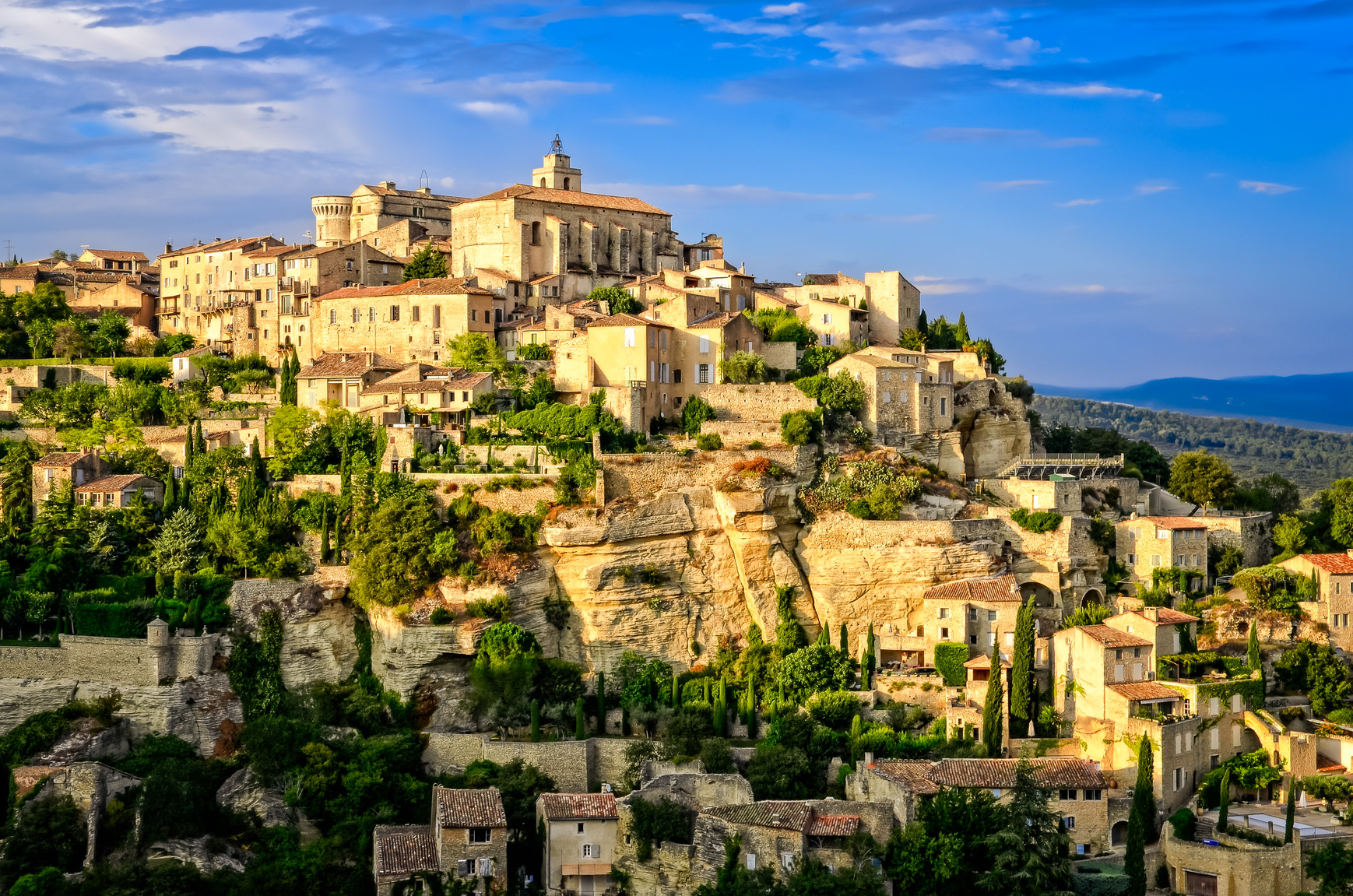 Sunset over Gordes Village, France